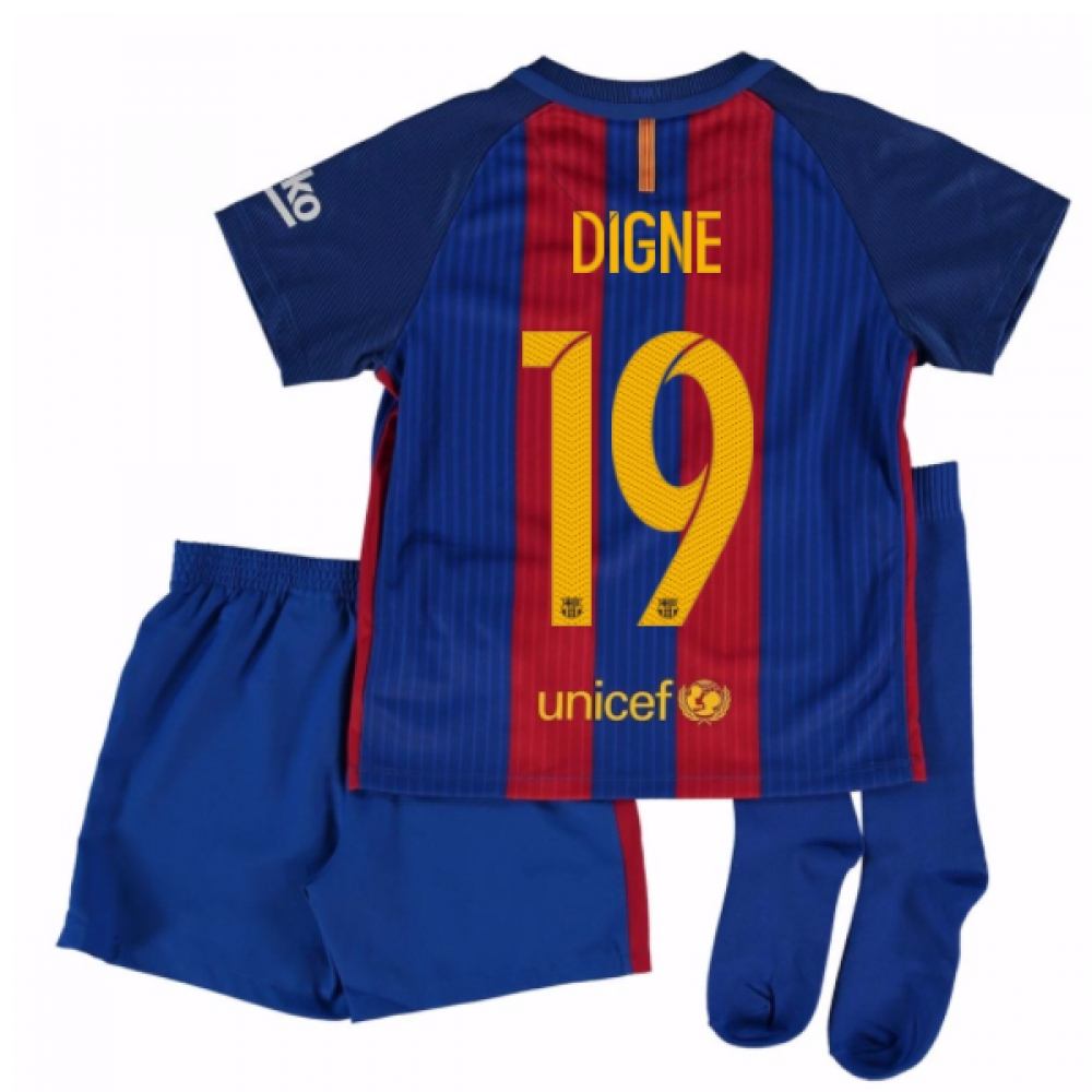 2016-17 Barcelona Home Mini Kit Shirt (Digne 19)