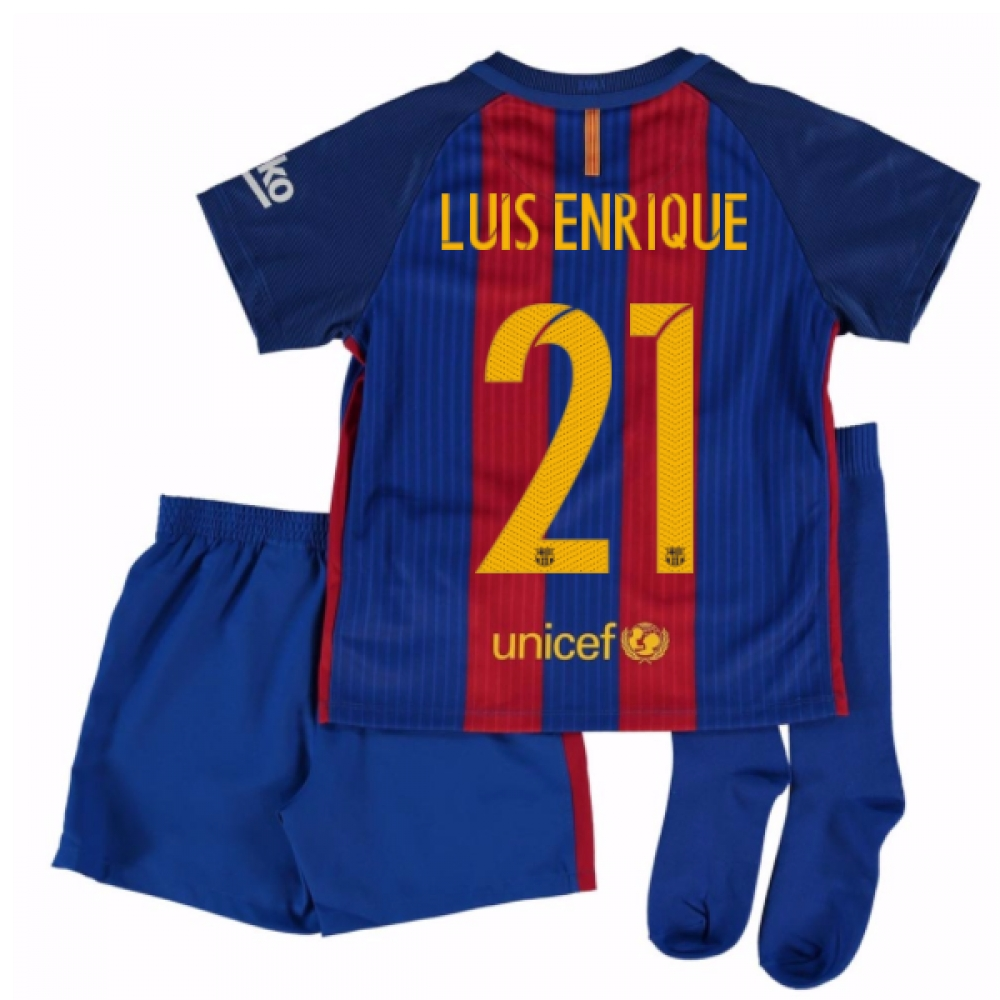 2016-17 Barcelona Home Mini Kit Shirt (Luis Enrique 21)