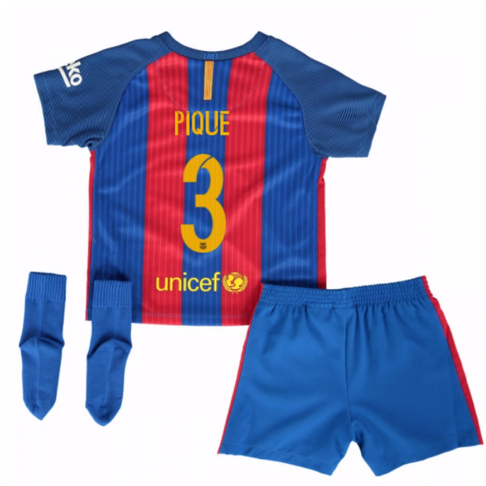 2016-17 Barcelona Home Baby Kit (Pique 3)
