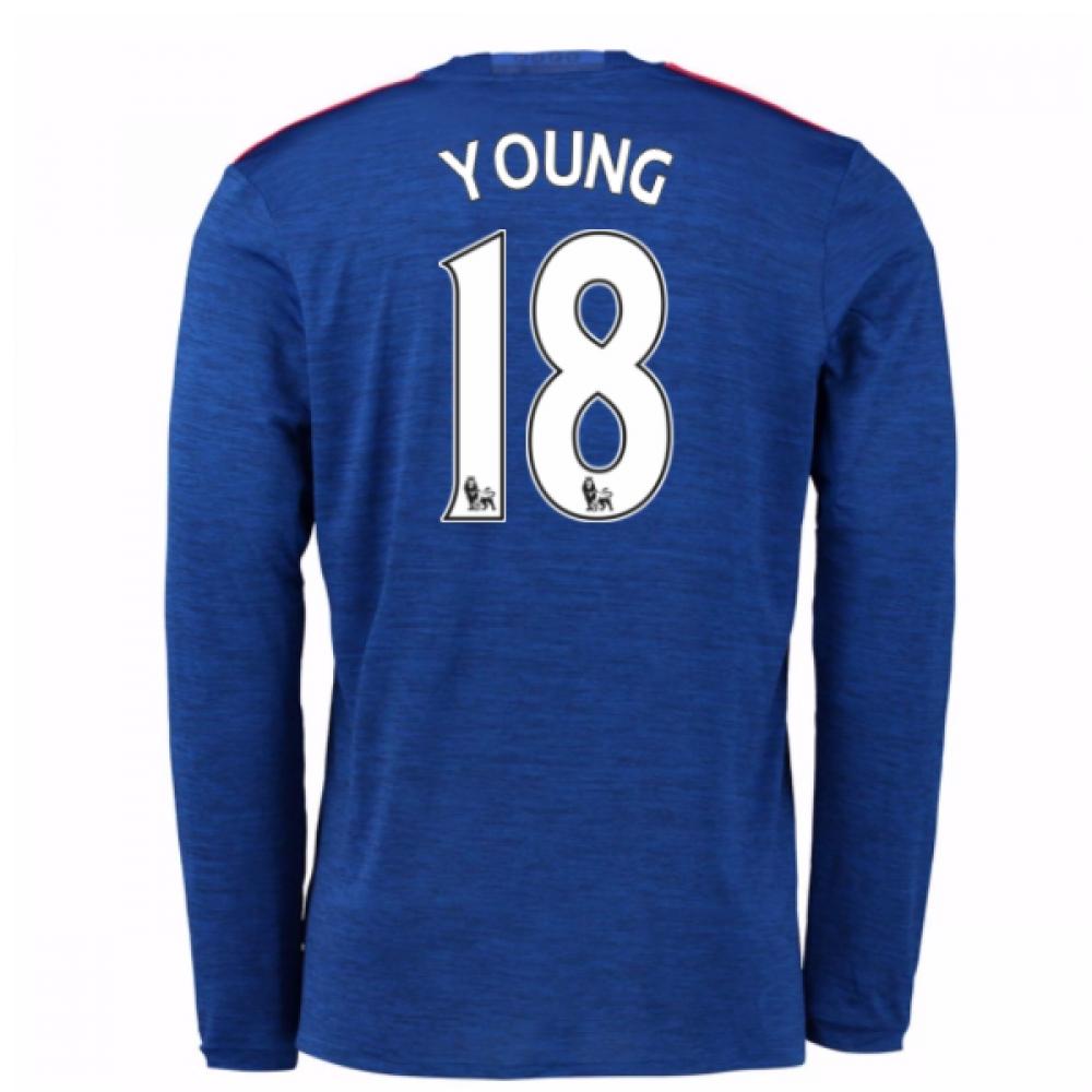 2016-17 Man United Away Long Sleeve Shirt (Young 18)