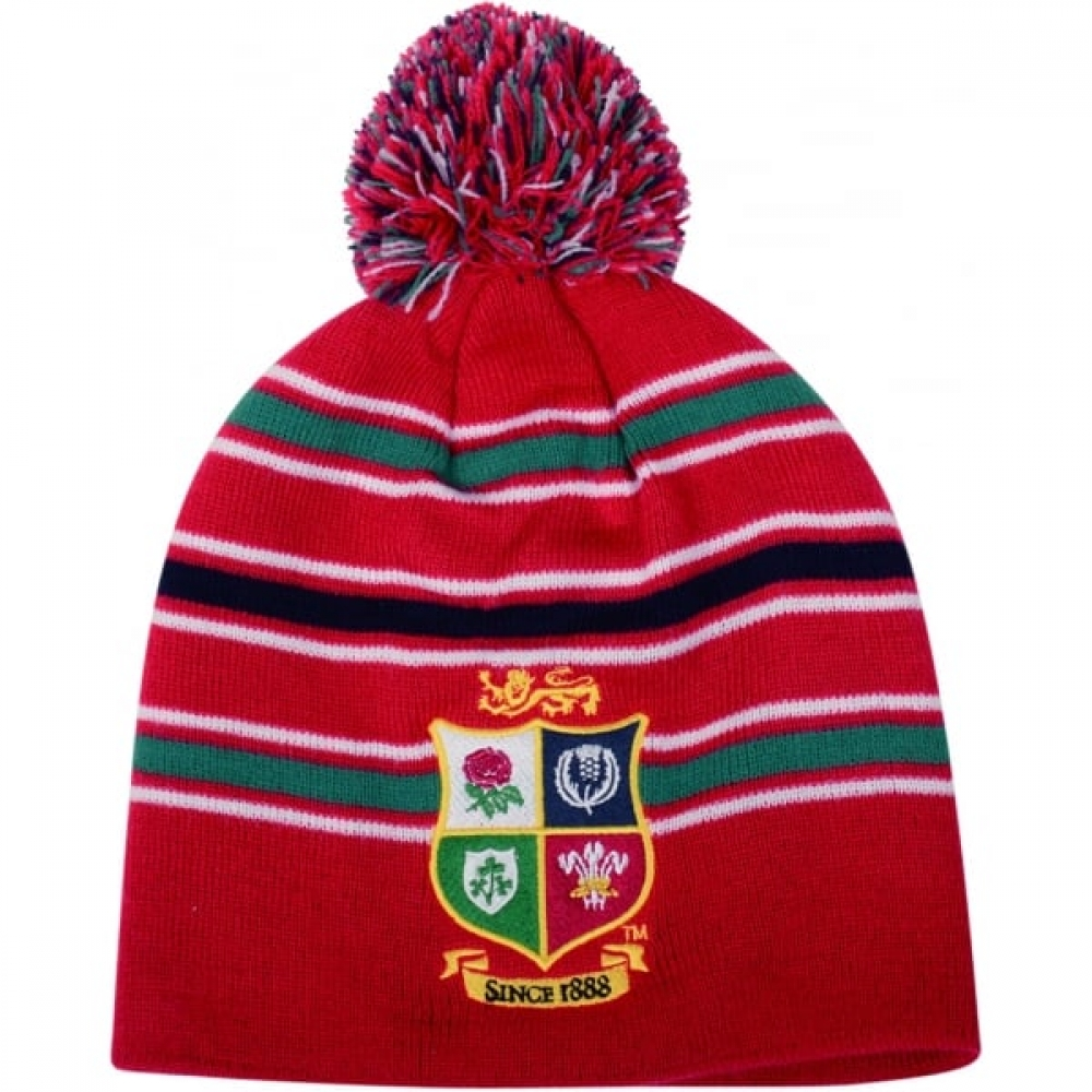 2016-2017 British Irish Lions Rugby Acrylic Bobble Hat (Red)