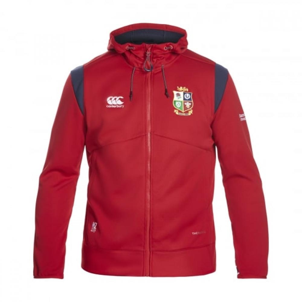 2016-2017 British Irish Lions Rugby Thermoreg Full Zip Fleece Hoody (Red)