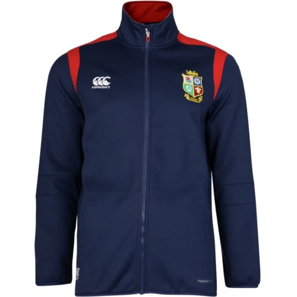 2016-2017 British Irish Lions Rugby Full Zip Presentation Jacket (Peacot)