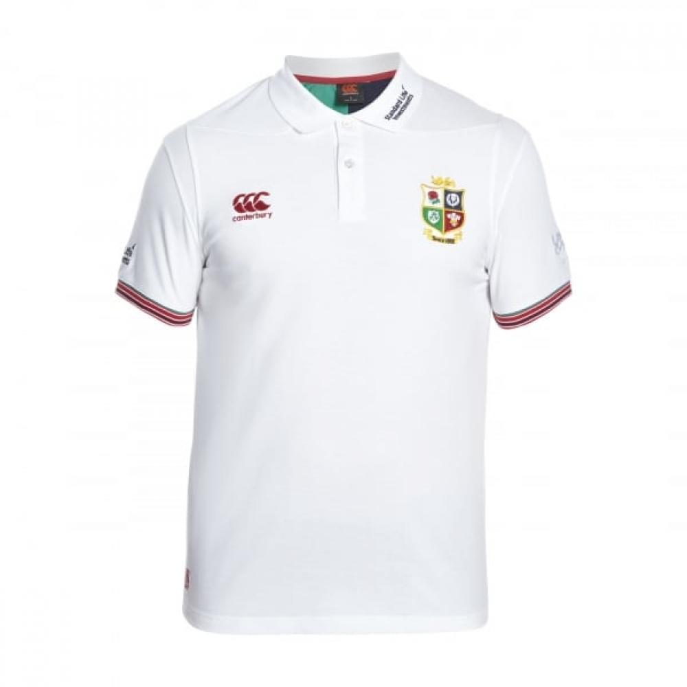 2016-2017 British Irish Lions Rugby Vapodri Cotton Polo Shirt (Bright White)
