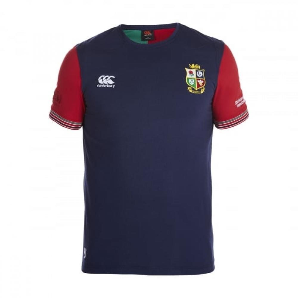 2016-2017 British Irish Lions Rugby Cotton Training Tee (Peacot)