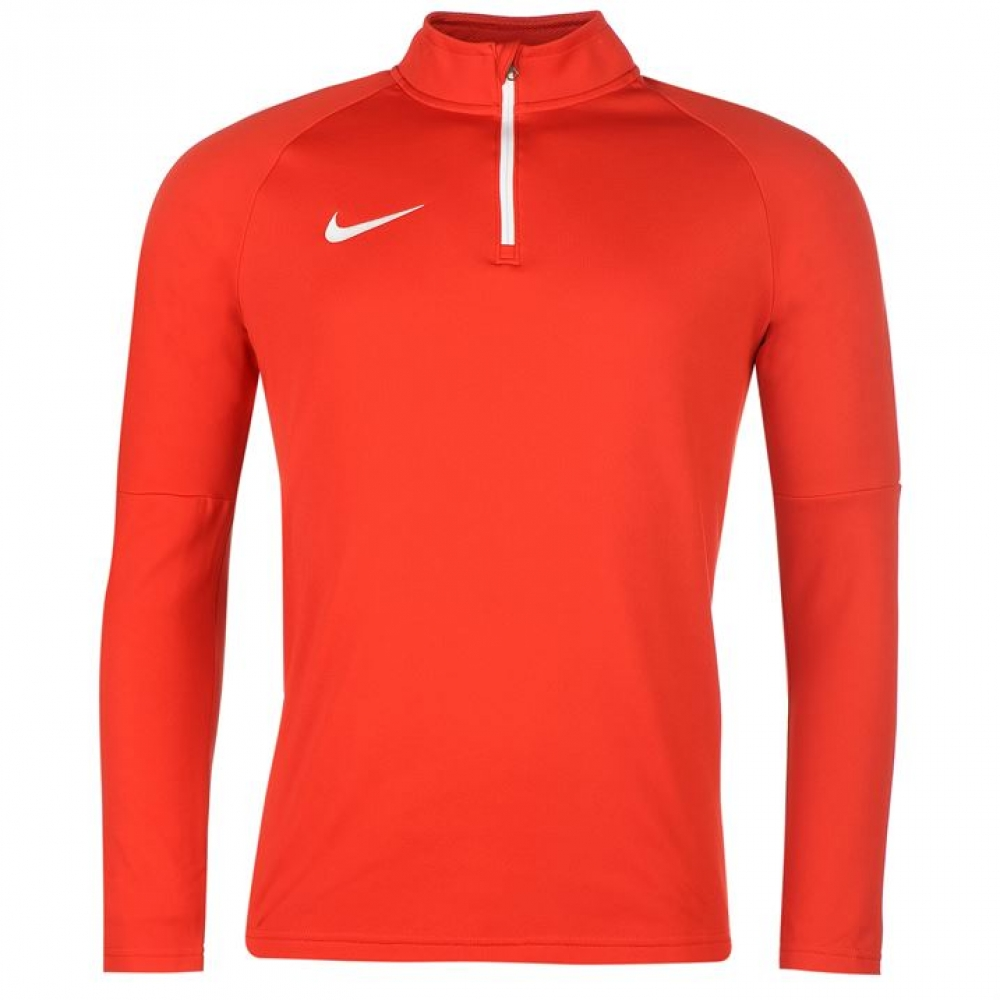 Nike Mens Dry Academy Half Zip Drill Top (Red)