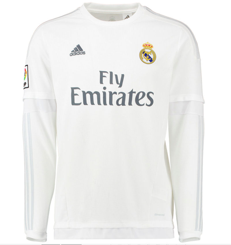 2015-2016 Real Madrid Adidas Home Long Sleeve Shirt