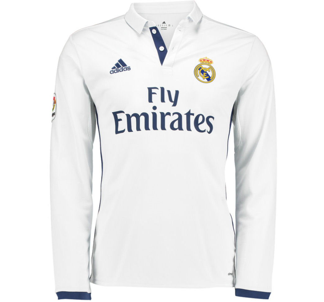 2016 2017 real madrid adidas home long sleeve shirt ai5184 uksoccershop. Black Bedroom Furniture Sets. Home Design Ideas