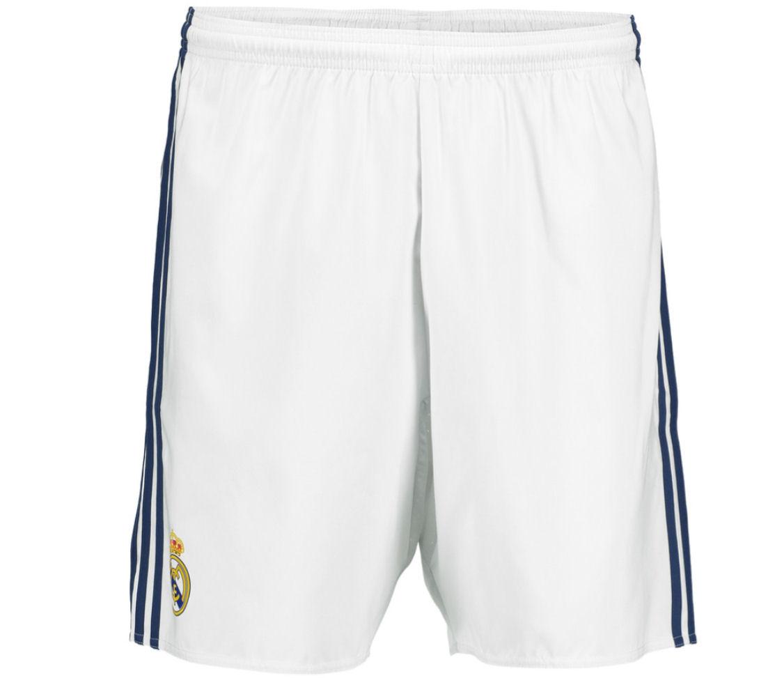2016-2017 Real Madrid Adidas Home Shorts (White)