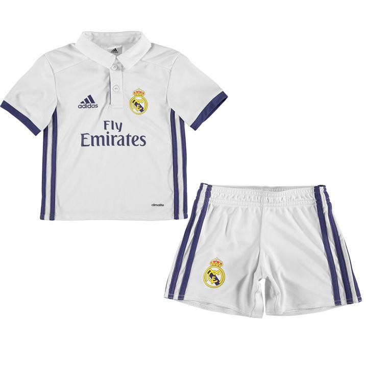 2016-2017 Real Madrid Adidas Home Mini Kit