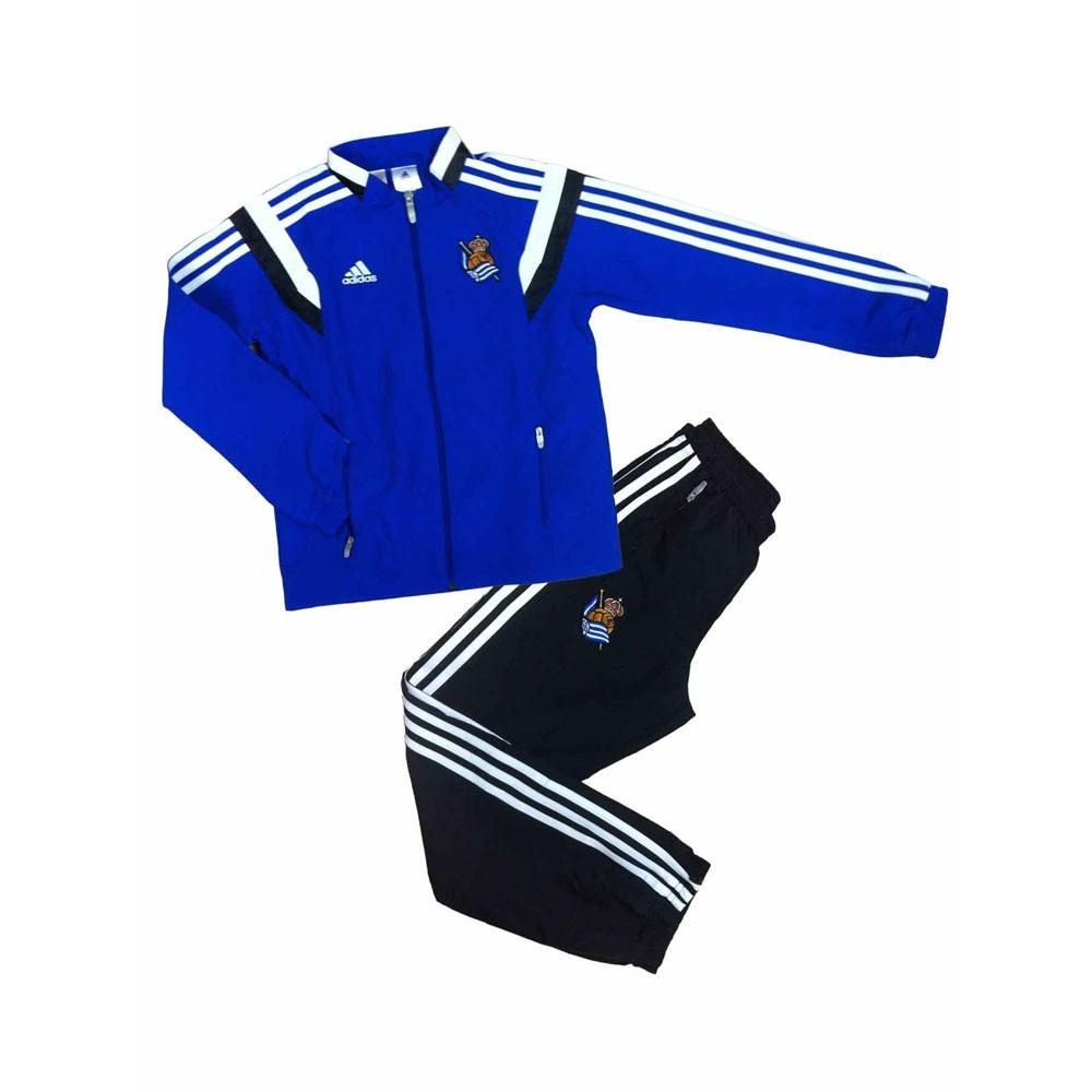 2016-2017 Real Sociedad Adidas Presentation Tracksuit (Blue)