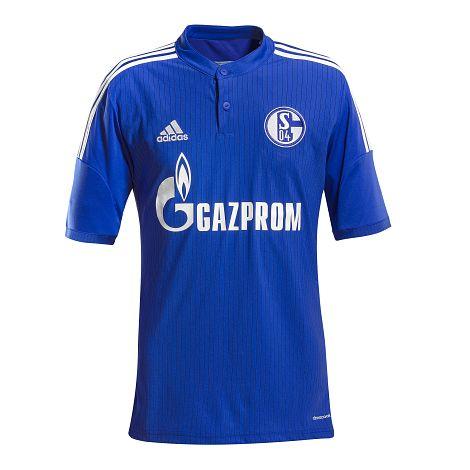 2015-2016 Schalke Adidas Home Football Shirt