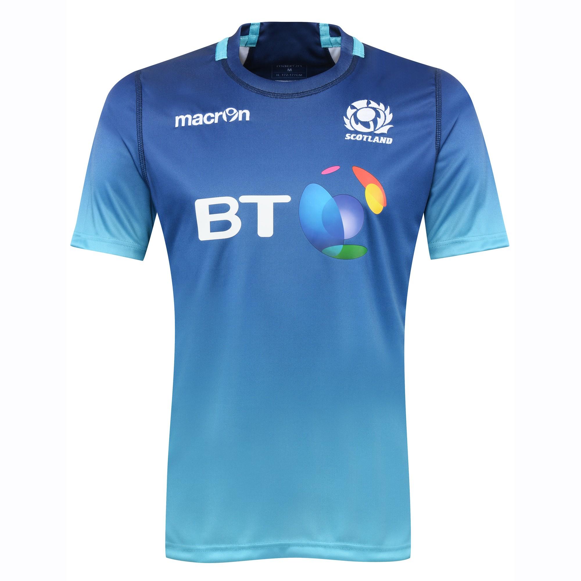 2016-2017 Scotland Macron Rugby Training Jersey (Turquoise)
