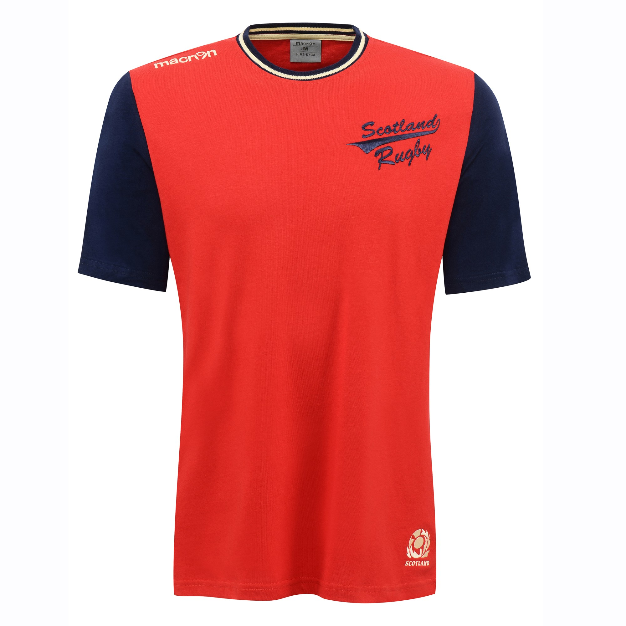 2016-2017 Scotland Macron Travel Cotton T-Shirt (Red)