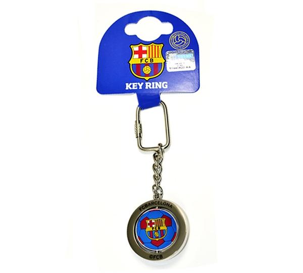 Barcelona Football Spinner Keyring
