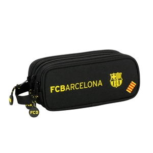 Barcelona Triple Pencil Case.-black
