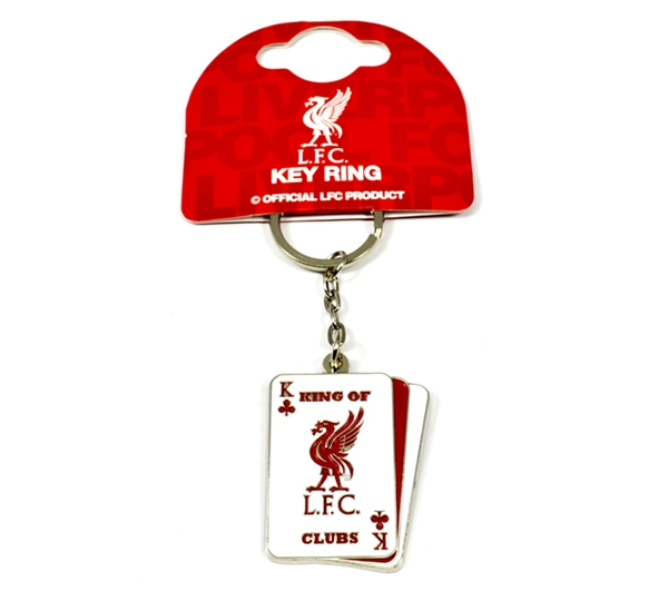 Liverpool Playing Card Keyring
