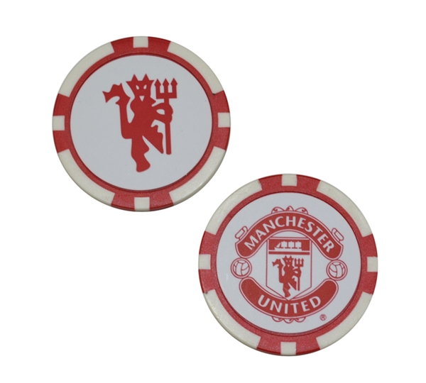 Manchester United Poker Style 2pk Golf Ball Marker