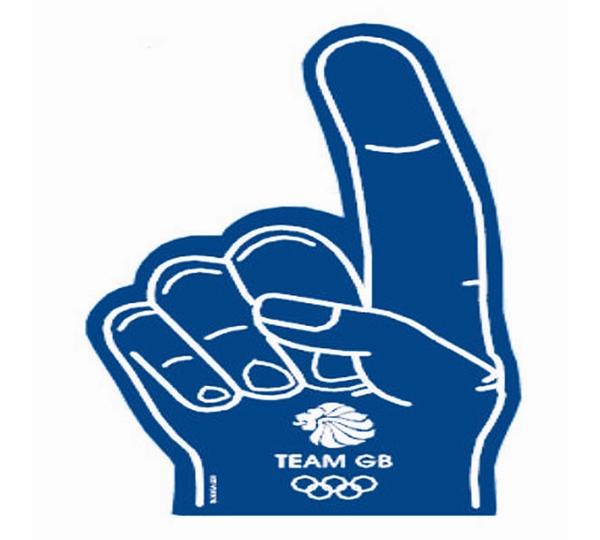 Team Gb Blue Foam Hand
