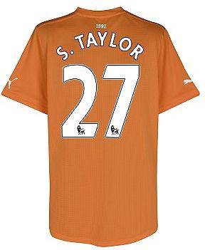 2011-12 Newcastle Puma Away Football Shirt (S.Taylor 27)