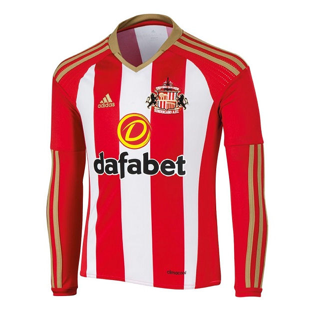 2016-2017 Sunderland Adidas Home Long Sleeve Shirt