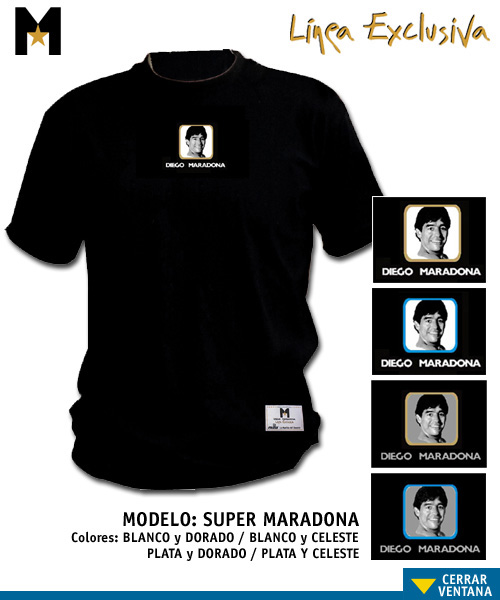 Collectable Maradona shirt - Super Marado