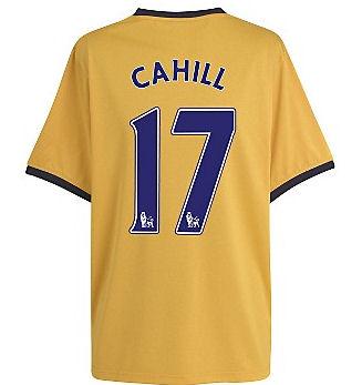 2011-12 Everton Away Football Shirt (Cahill 17)