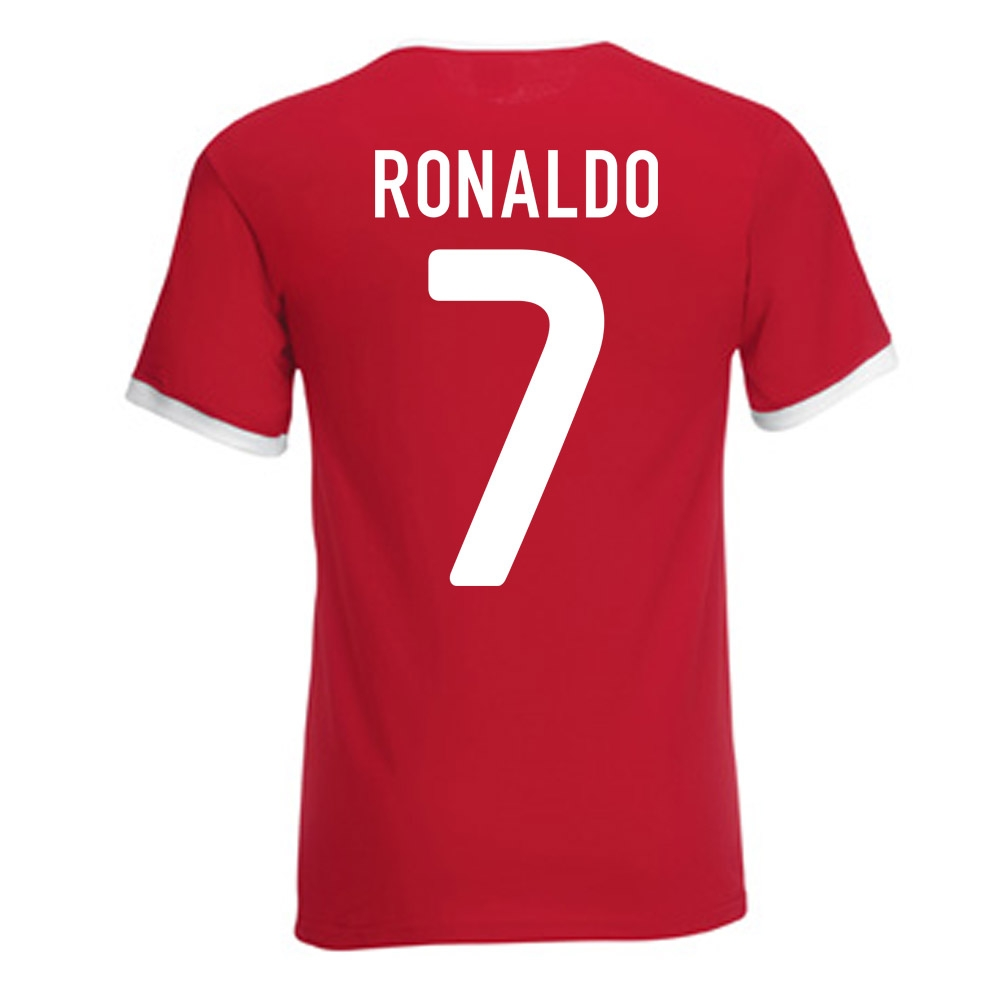 cristiano ronaldo portugal ringer tee red ringred. Black Bedroom Furniture Sets. Home Design Ideas