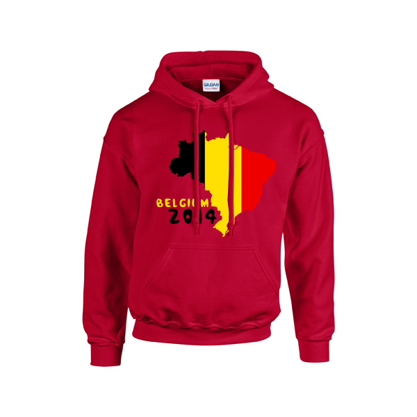 Belgium 2014 Country Flag Hoody (red)