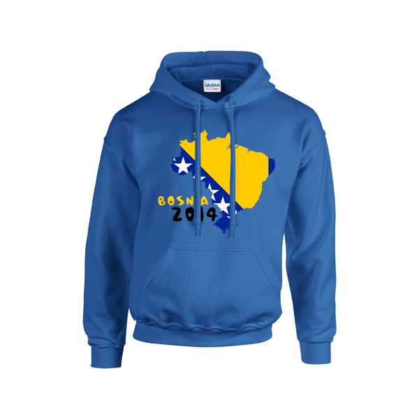 Bosnia 2014 Country Flag Hoody (blue)
