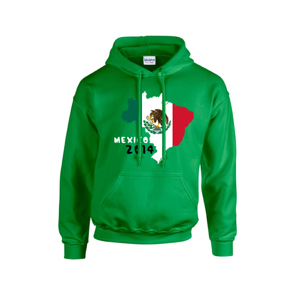 Mexico 2014 Country Flag Hoody (green)