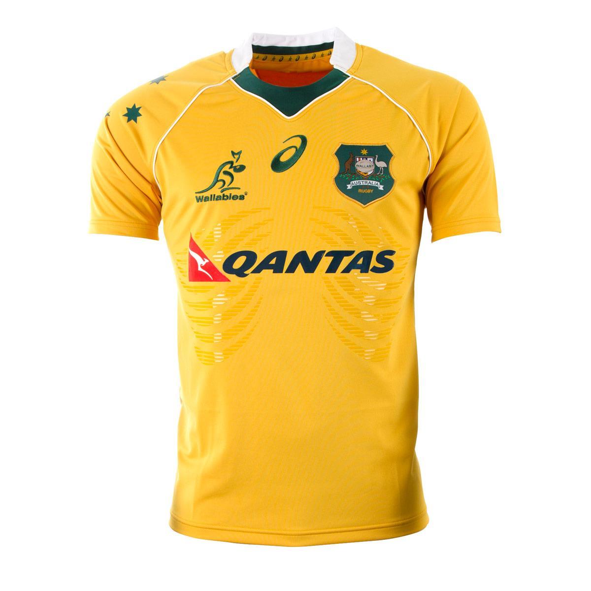 2016-2017 Australia Wallabies Home Test Rugby Shirt